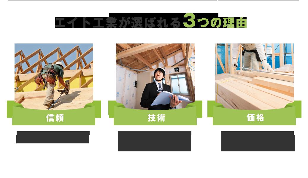・屋根の専門家だから細かい屋根の状態も見逃しません。・専門家として様々な屋根のトラブルに対応出来ます。戸建住宅から工場まで!・新築の屋根工事も年間200棟以上手がけており、材料が安く入るので安価に工事をご提供できます。